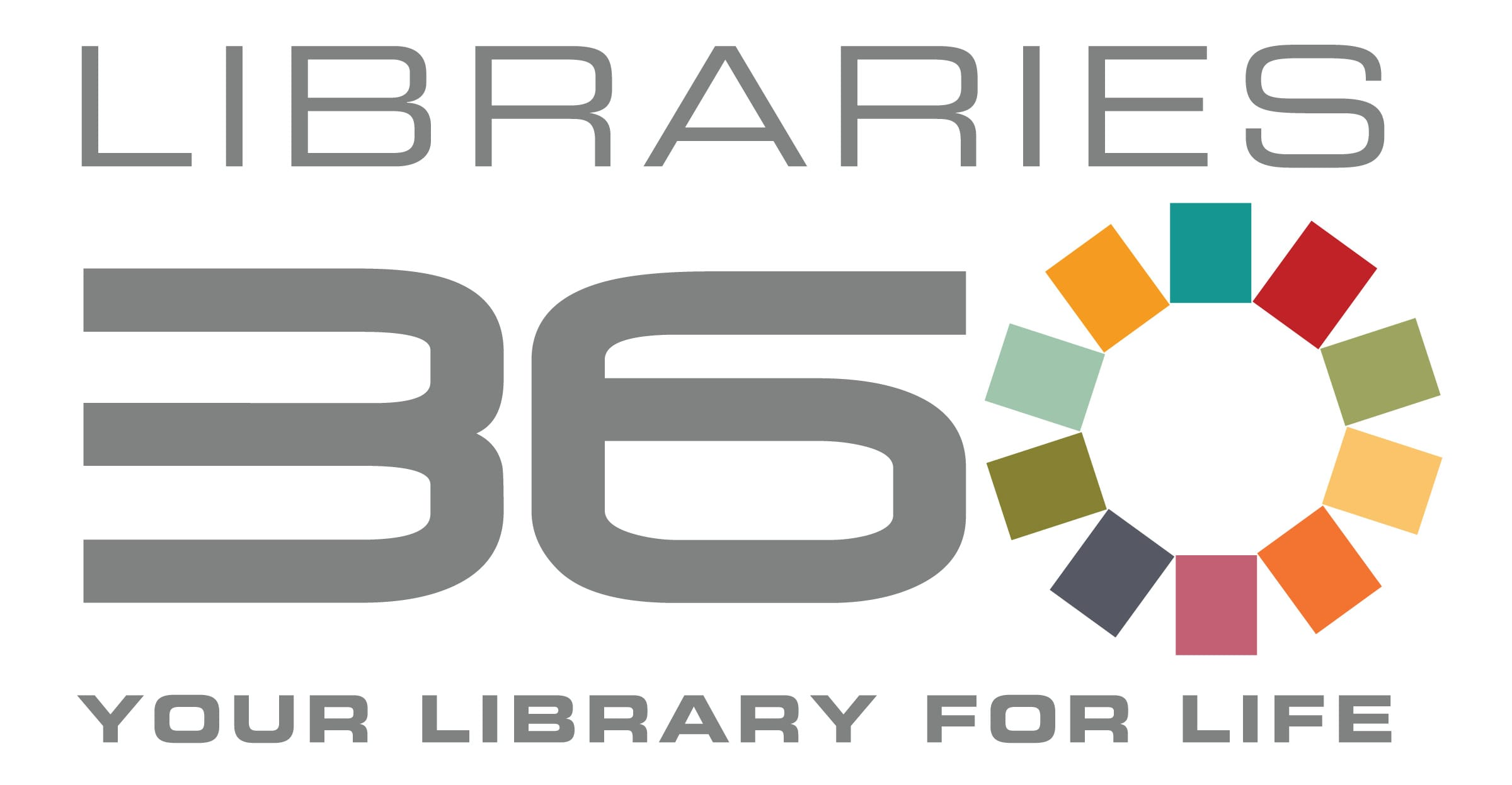 "Libraries 360 Logo, ""Your Library For Life"""