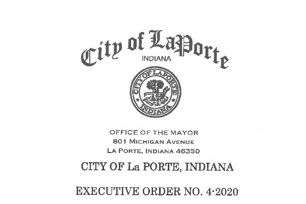 City of La Porte Executive Order Requiring Employees and Customers to Wear Masks