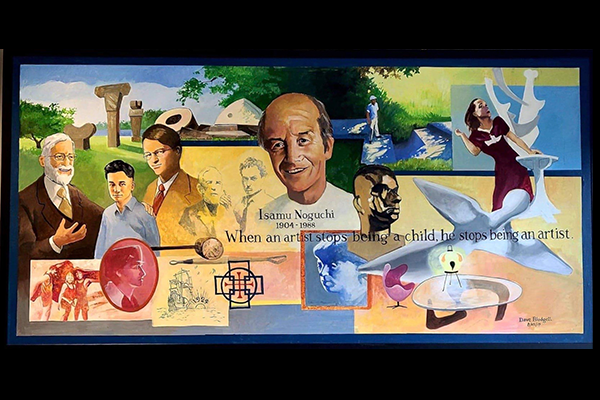 Visit the Isamu Noguchi Mural at the Library