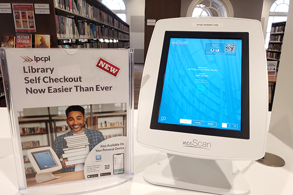 Using meeScan for Self-Checkout at the Library