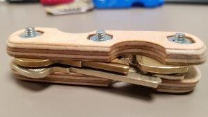 CNC wood key keeper assembled