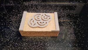linoleum block CNC cut